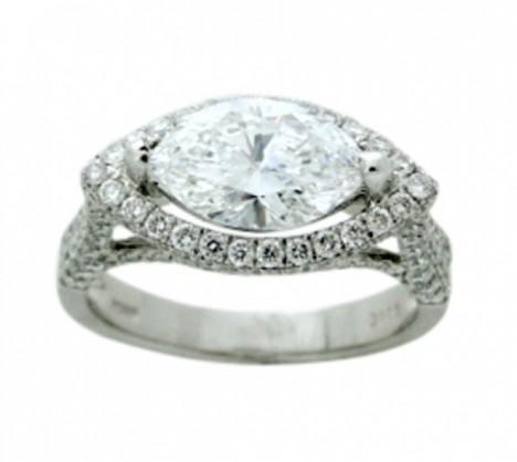 Marquise Cut Diamond Rings Ring