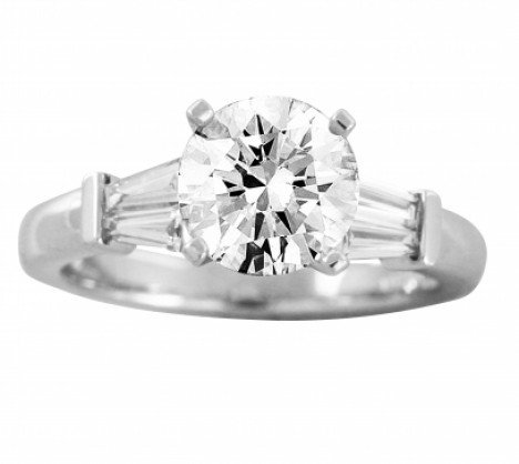 Engagement Rings With Side Stones Diamond Engagement Rings New York